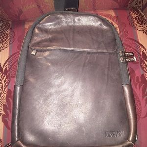 Kenneth Cole single strap leather backpack